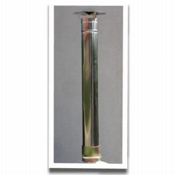 Schoorsteenpijp INOX incl. dakje 150mm diameter